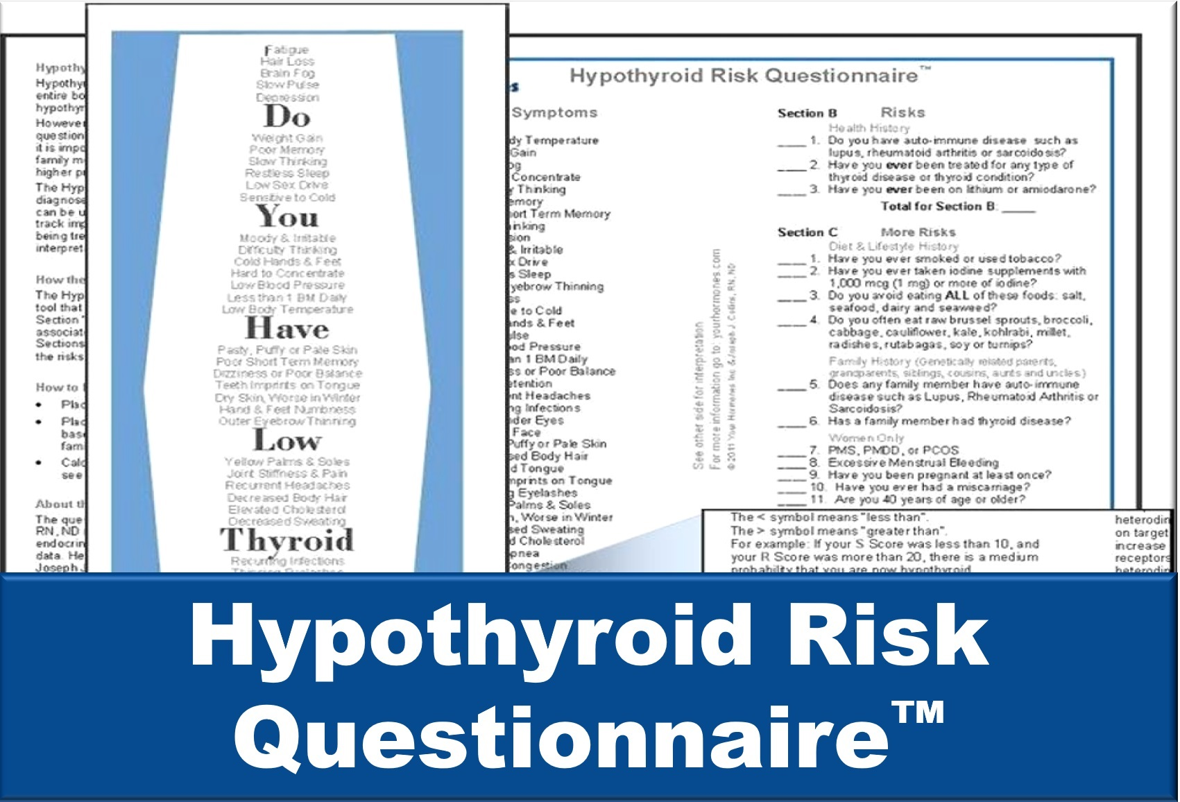 Hypothyroid Risk Questionnaire™