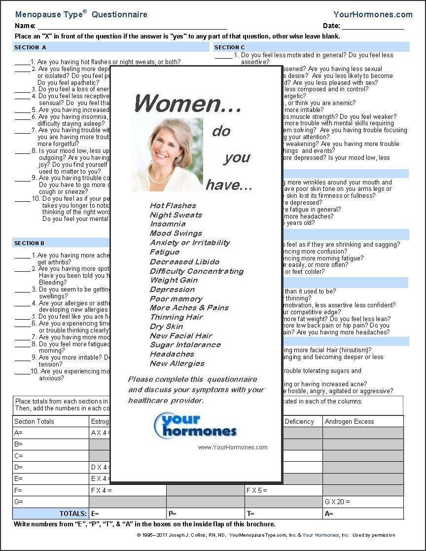 Learn how to use the Menopause Type® Questionnaire